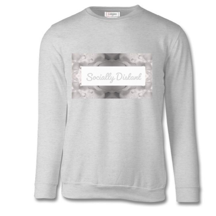 Grey  Marl Sweatshirt Socially Distant